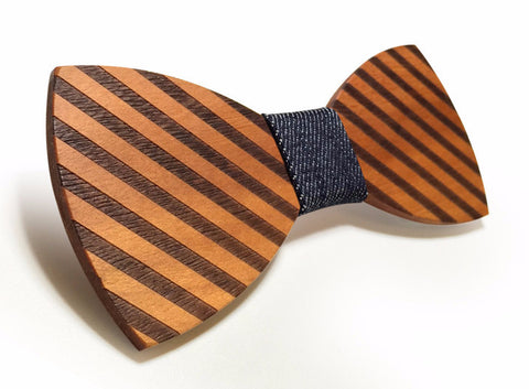 HOT - Striped Wooden Bow Tie for Men