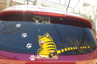 3D Moving Cat carsticker
