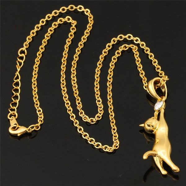 Necklace with Cute Cat Pendant Offer