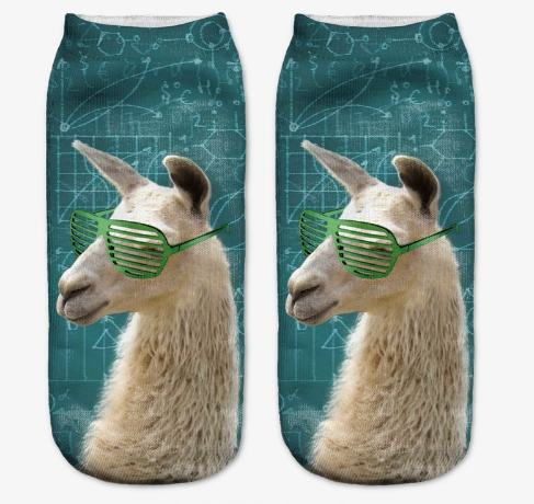 Cute 3D Printed Women's Animal Socks