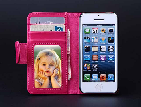 Luxury Protective PU leather Wallet for iPhone 5C Offer