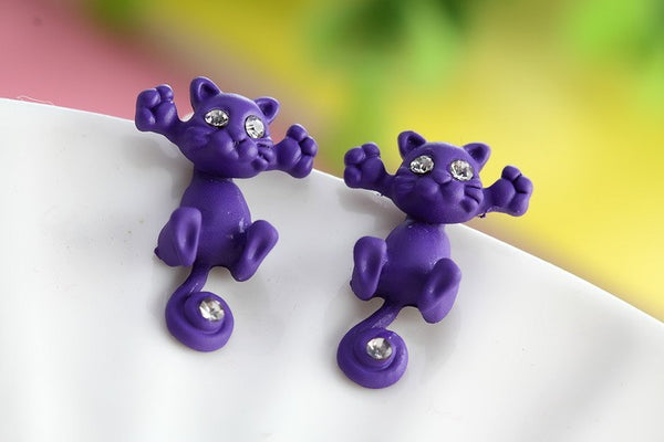 Cute Fashion Kitten Stud Earings