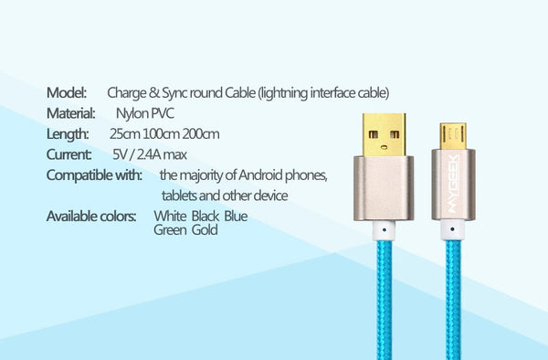Micro USB Cable for Data & Charging