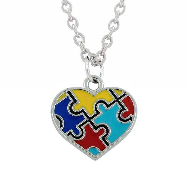 Autism Awareness Puzzle Piece Pendant Necklace Giveaway