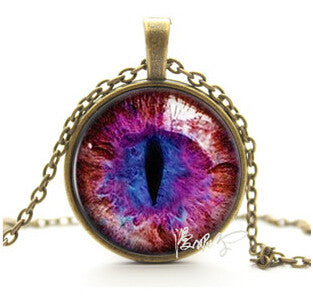 Vintage Cat Eye Pendant Necklace