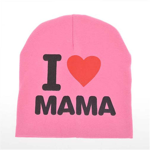 Cute Knitted I LOVE MOM/DAD Baby Beanie
