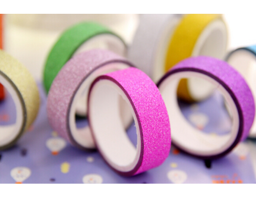 10 pcs. Gold Glitter Washi Tape