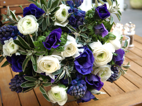 Blue & White Hand Tied