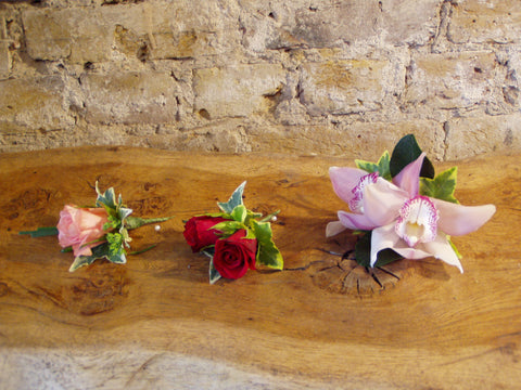 Buttonholes - These are for illustration purposes only (not for delivery)