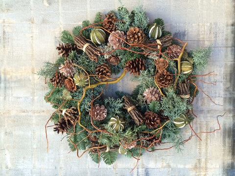Limes And Willow Natural Wreath