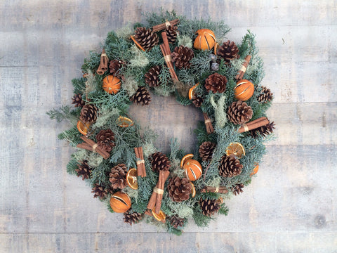 Oranges And Cinnamon Natural Wreath