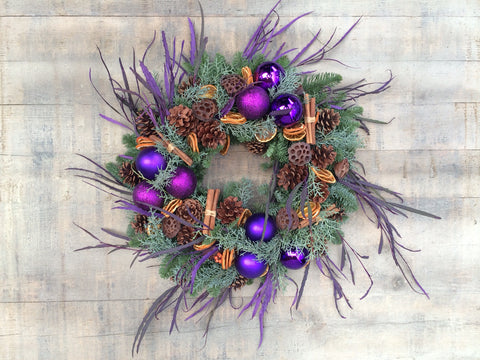 Purple And Orange Wreath