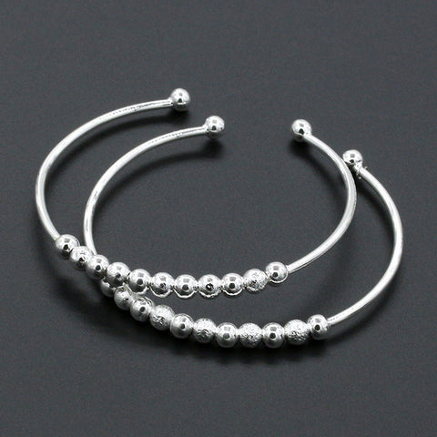 Silver-Plated Beads Bracelet