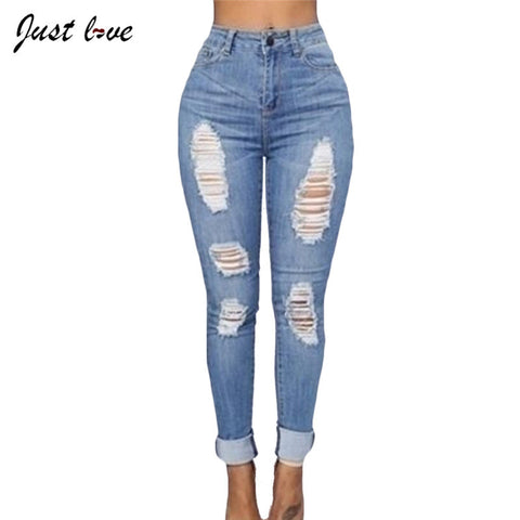 Jeans Woman  Fashion Clothing Spring Summer Feminism Plus Size S-2XL Skinny Pencil Pants Female Push Up Jeans Legging