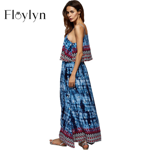 Floylyn Women Sleeveless Plus Size Sexy Chiffon Maxi Dresses
