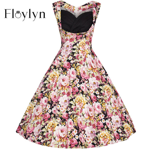 Floylyn Women's Summer Elegant Casual Party Swing Dress Plus Size