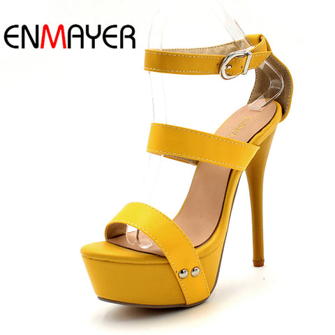 Fashion Sexy High Heels Platform Square Heel Lace Up Peep Toe Pumps Sandals for Women New Arrival Size 34-43 White Shoes