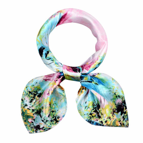 Fashion Girl Women Tie Scarf Printing Pattern Square Scarves for Office Ladies Warm Wrap Shawl 60*60cm #LSN
