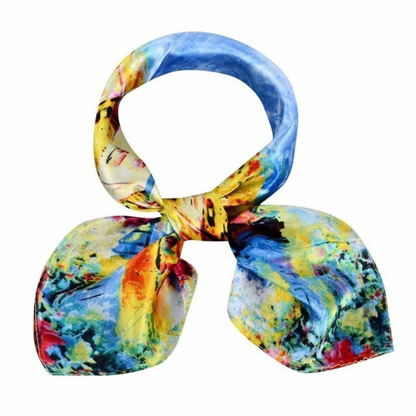 Fashion Girl Women Tie Scarf Printing Pattern Square Scarves for Office Ladies Warm Wrap Shawl 60*60cm #LSN - Kristen Kim