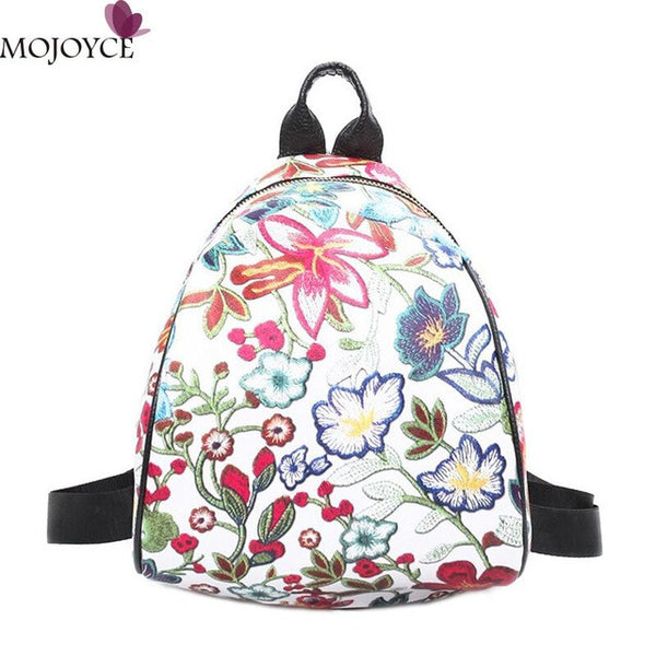 Hot Sale Women Backpack Fashion Causal Floral Printing Backpacks PU Leather Backpack female For Teenagers Girls women - Kristen Kim