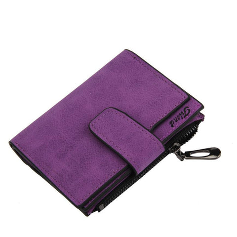 Women Wallets Women Mini Grind Magic Bifold Leather Wallet Card Holder  Lady Purse carteras mujer sacoche homme