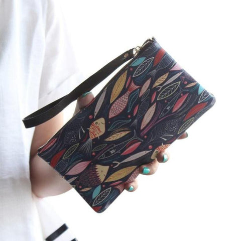 Designer Women Lady Leather Wallet Purse Ladies Long Card Phone Bag Coin Purse sacoche homme - Kristen Kim