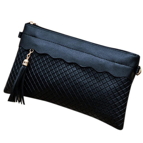Women Wallets  Weave Tassel Pattern Ladies Purse Messenger Handbag sacoche homme