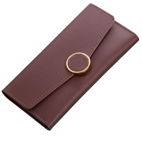 Ladies Wallets Simple Long Wallet Hasp Coin Purse Card Holders women's purse carteira feminina couro