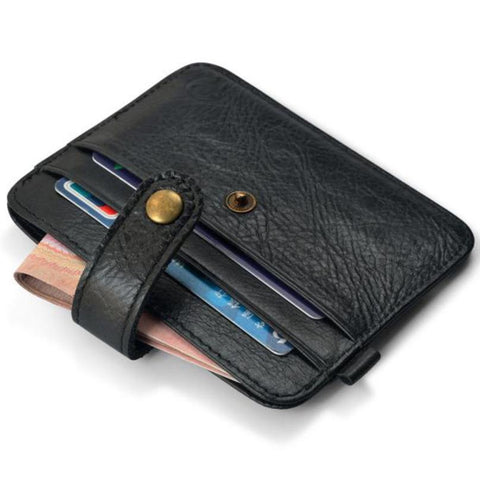 leather card holder Slim Credit Card Mini Wallet ID Case Purse monedero mujer
