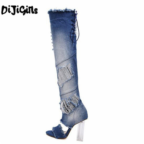summer sandals boots High Heels pumps Over the Knee Boots prom shoes thigh high Boots women pumps peep toe long boots