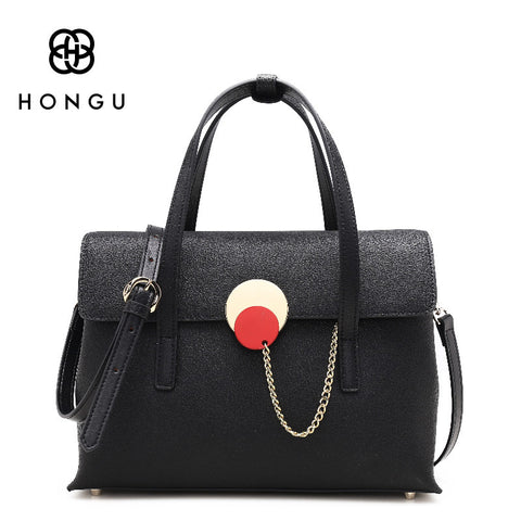 Genuine Leather Women' bags Fashion Lock Chian Women Handbags Shoulder Bag Female Crossbody Bolsos Tote Lady Flap Handbag
