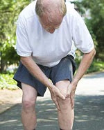 Holding back of knee pain