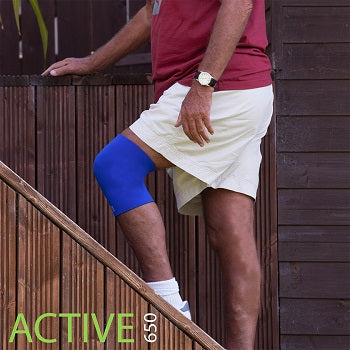 Pain when going down stairs is reduced with Active650 Full Knee Support