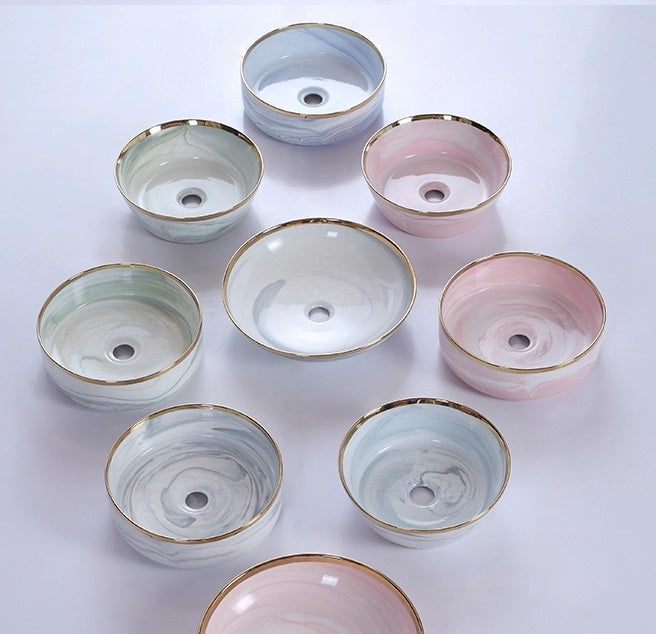 DESIGNER BASIN SERIES | NORDIC BLUSH | 350 MM