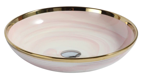 PRE ORDER | DESIGNER BASIN SERIES | NORDIC BLUSH | 430MM
