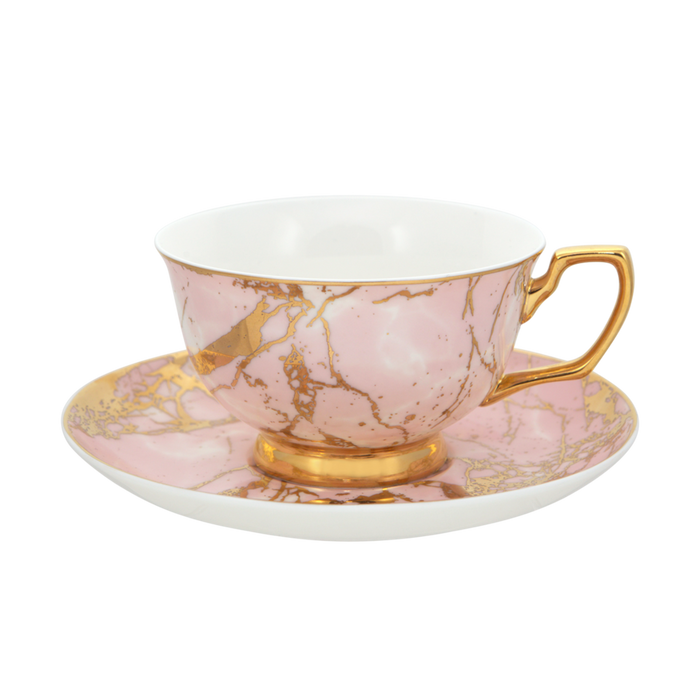 TEACUP + SAUCER | ROSE QUARTZ