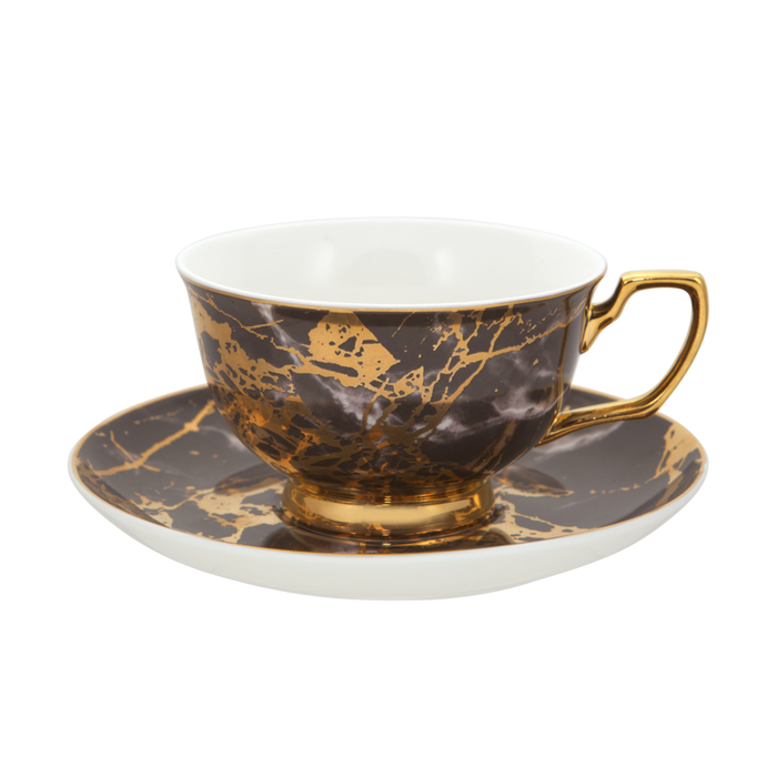 TEACUP + SAUCER | BLACK TOURMALINE