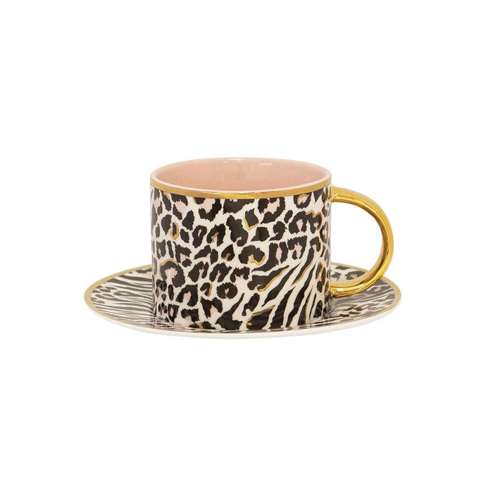 TEACUP + SAUCER | SAFARI LEOPARD