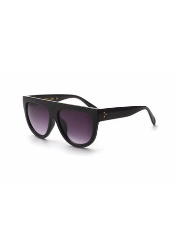Blackout Flat Top Sunglasses