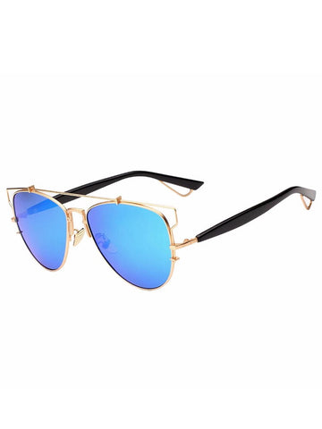 Azure Mirror Technologic Sunglasses