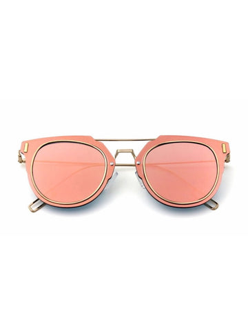 Pink Mirror Technologic Sunglasses