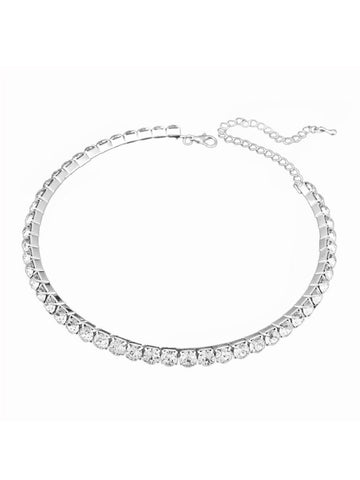 One Line Crystal Collar Choker