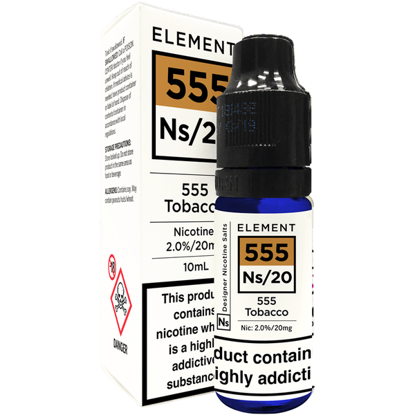 555 Tobacco Nic Salt by Element 10ml