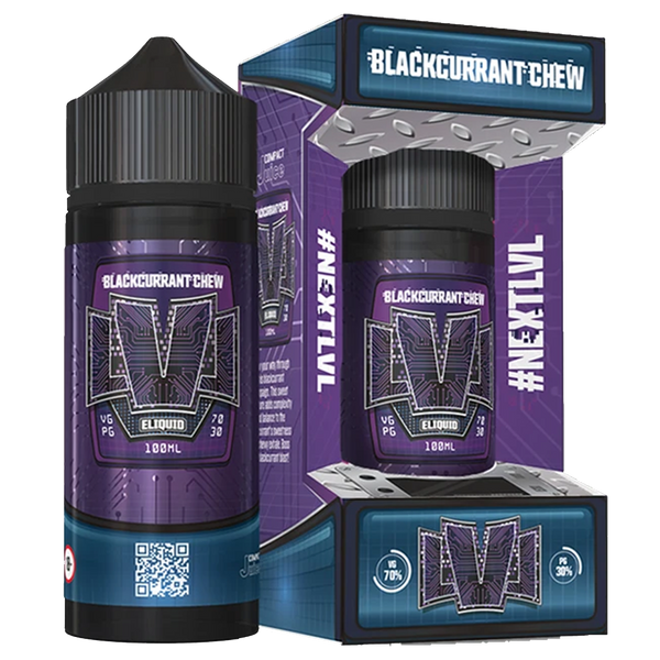 LVL Blackcurrant Chew E-Liquid 100ml Short Fill