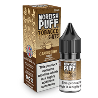 Moreish Puff Salts Cappuccino Tobacco 10ml Nic Salt