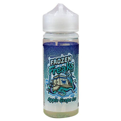Apple & Grape Ice E-liquid by Frozen Freaks 100ml Short Fill