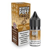 Moreish Puff Salts Honey and Cream Tobacco 10ml Nic Salt
