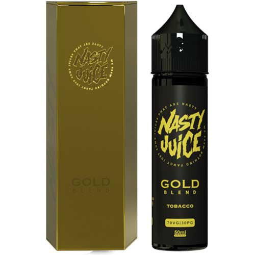 Nasty Juice Tobacco Series: Gold Blend 0mg Short Fill - 50ml