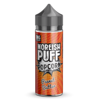 Moreish Puff Popcorn Peanut Butter 0mg 100ml Short Fill E-Liquid