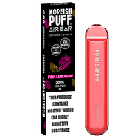 Moreish Puff Air Bar Pink Lemonade Disposable Pod Device